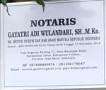 Lowongan KANTOR NOTARIS GAYATRI ADI WULANDARI,SH.,M.Kn