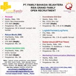 Lowongan PT Family Bahagia Sejahtera (RSIA Grand Family)