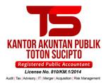 Lowongan Kantor Akuntan Publik Toton Sucipto
