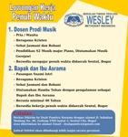 Lowongan Sekolah Tinggi Teologi Wesley Methodist Indonesia
