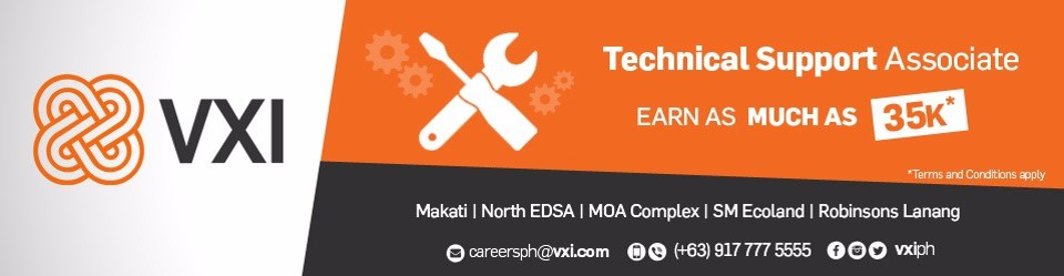 VXI Panorama is the place to be! We are hiring Technical Support ...